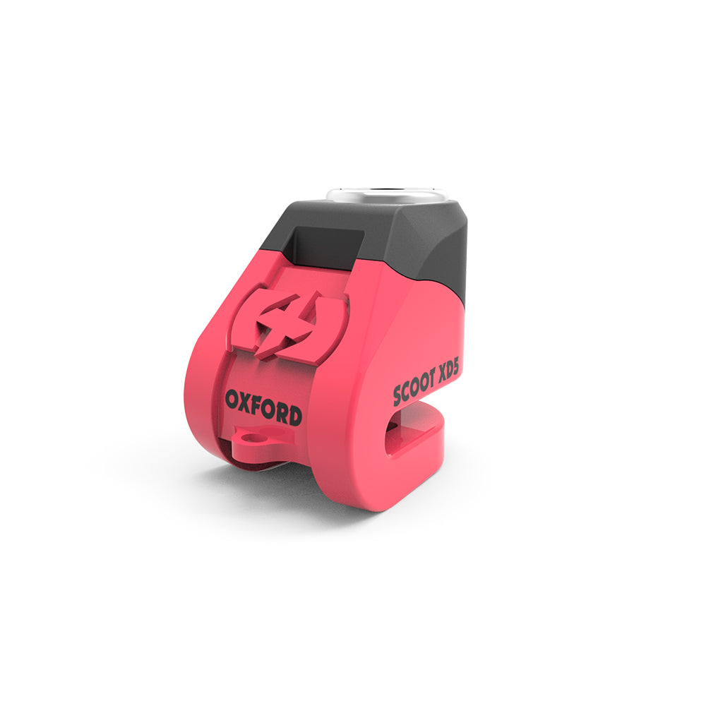 Oxford - Scoot XD5 disc lock (5mm pin) - Pink / Yellow/Black