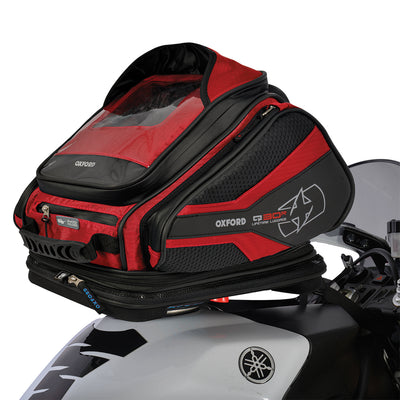 Oxford - Q30R QR Tank Bag - Black / Red / Blue