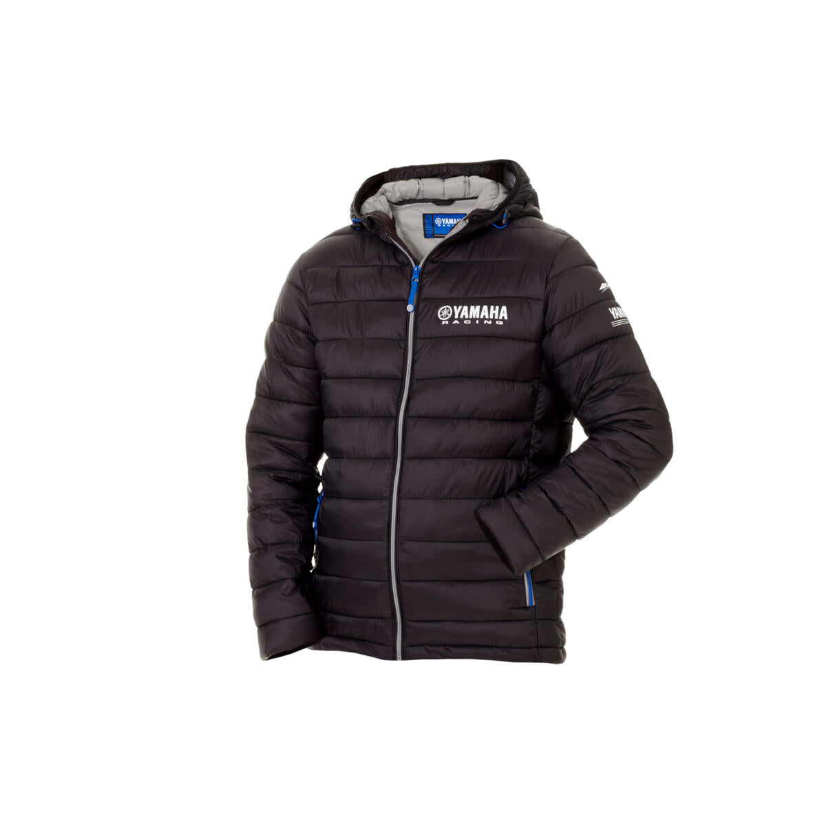 Paddock Blue Men's Padded Jacket - Black / Blue