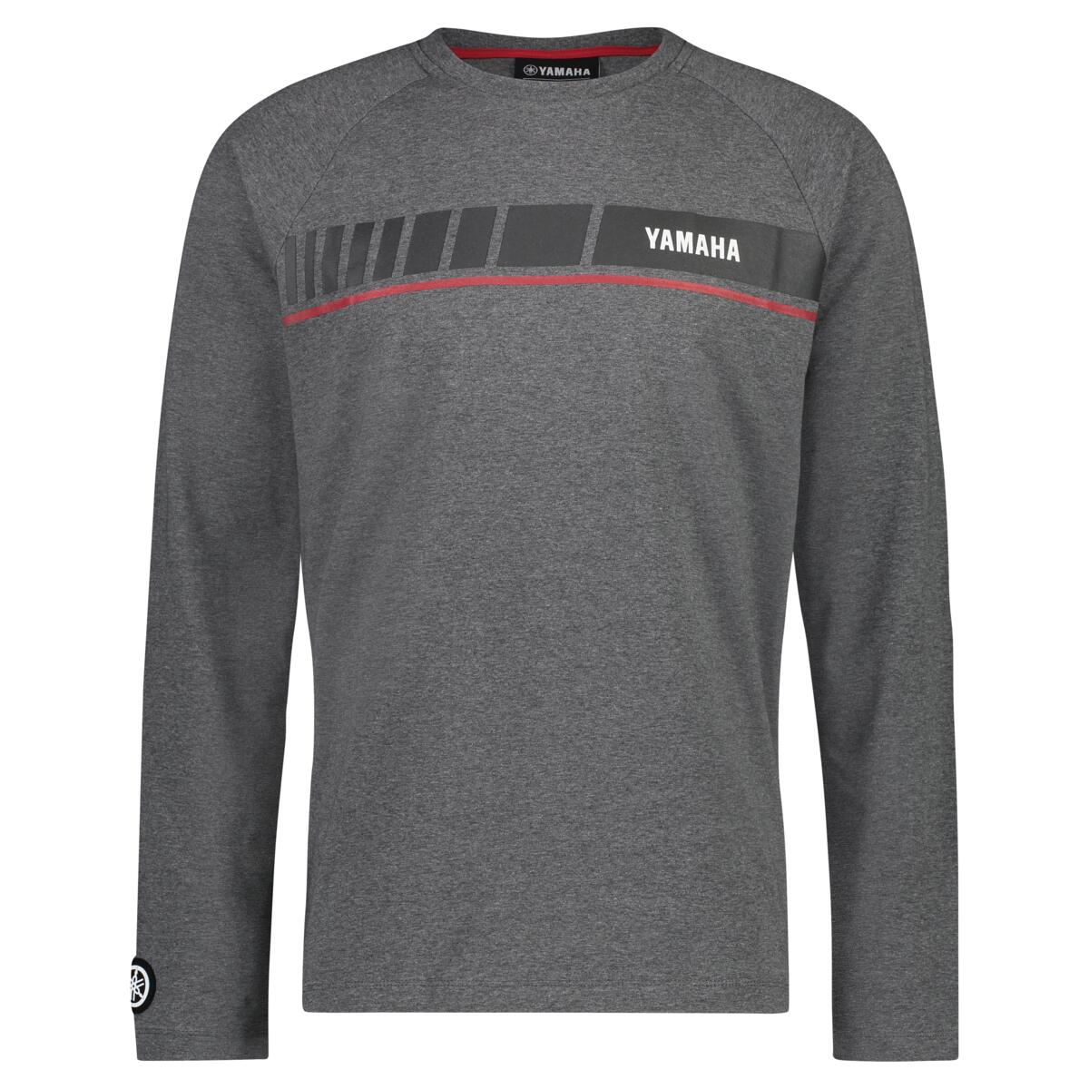 REVS Men's Long Sleeve T-shirt - Grey / Black