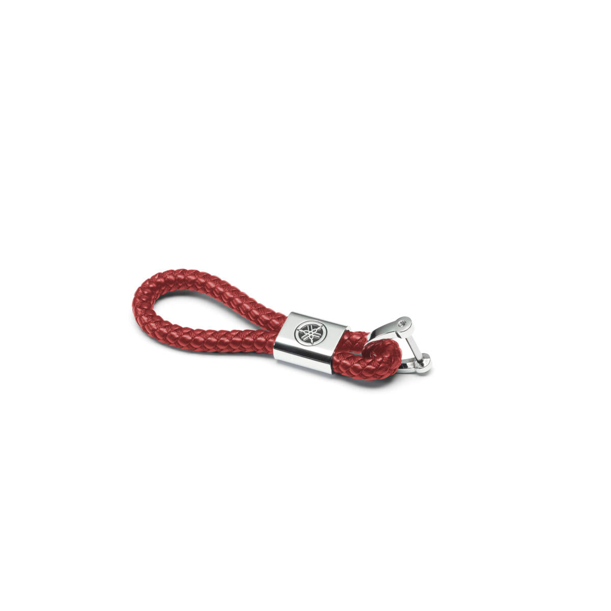 REVS Leather Key Ring - Black / Red