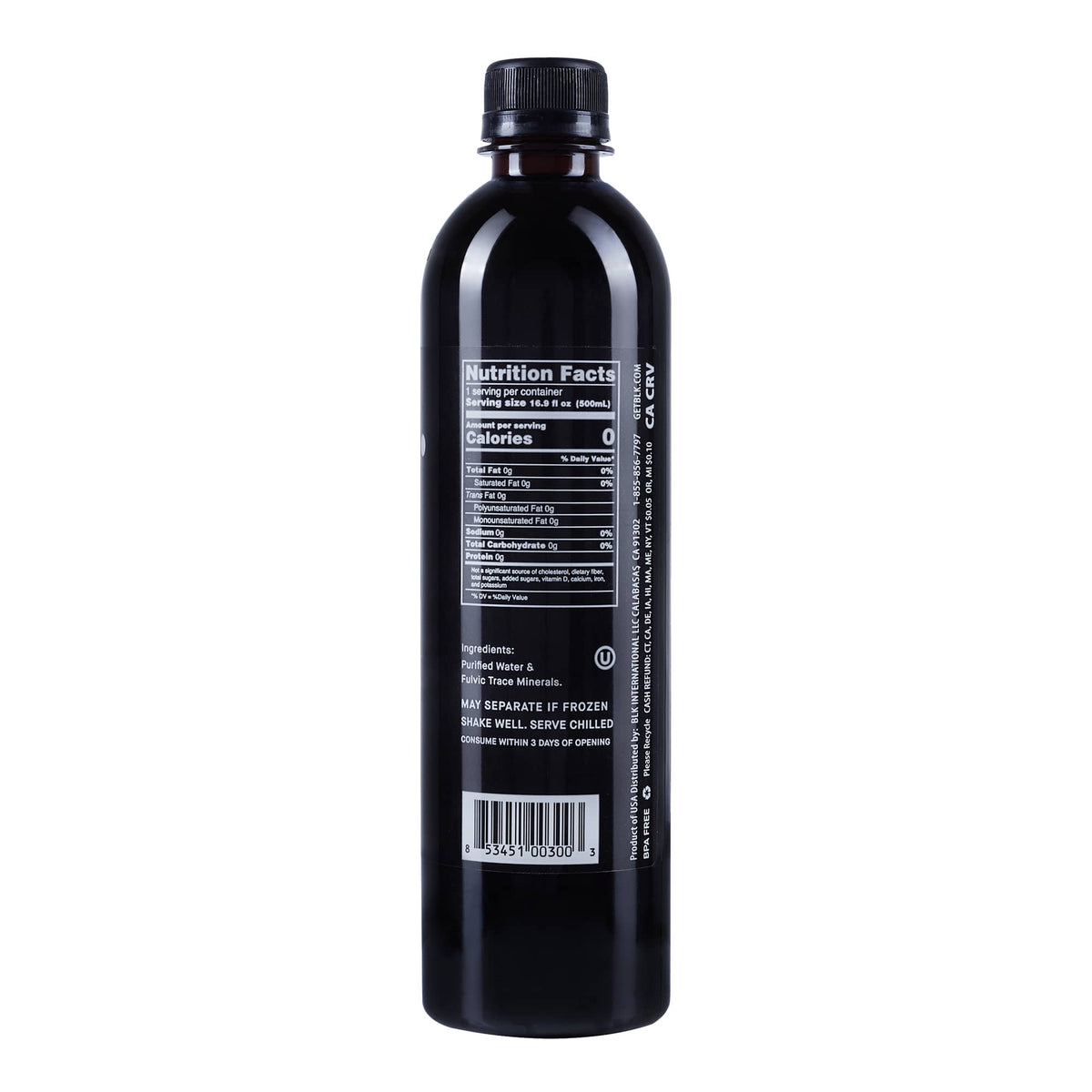 blk. Electric Coconut - 12pk / 16.9 fl oz / 500ml Bottles