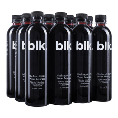 blk. Alkaline pH 8.0+ Water Zero Calories Zero Carbs Zero Sugars