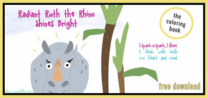 Radiant Ruth the Rhino Shines Bright: Coloring Book