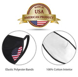 Patriotic Face Mask- Protective Cotton Double Layee