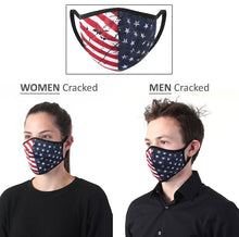 Load image into Gallery viewer, Patriotic Face Mask- Protective Cotton Double Layee