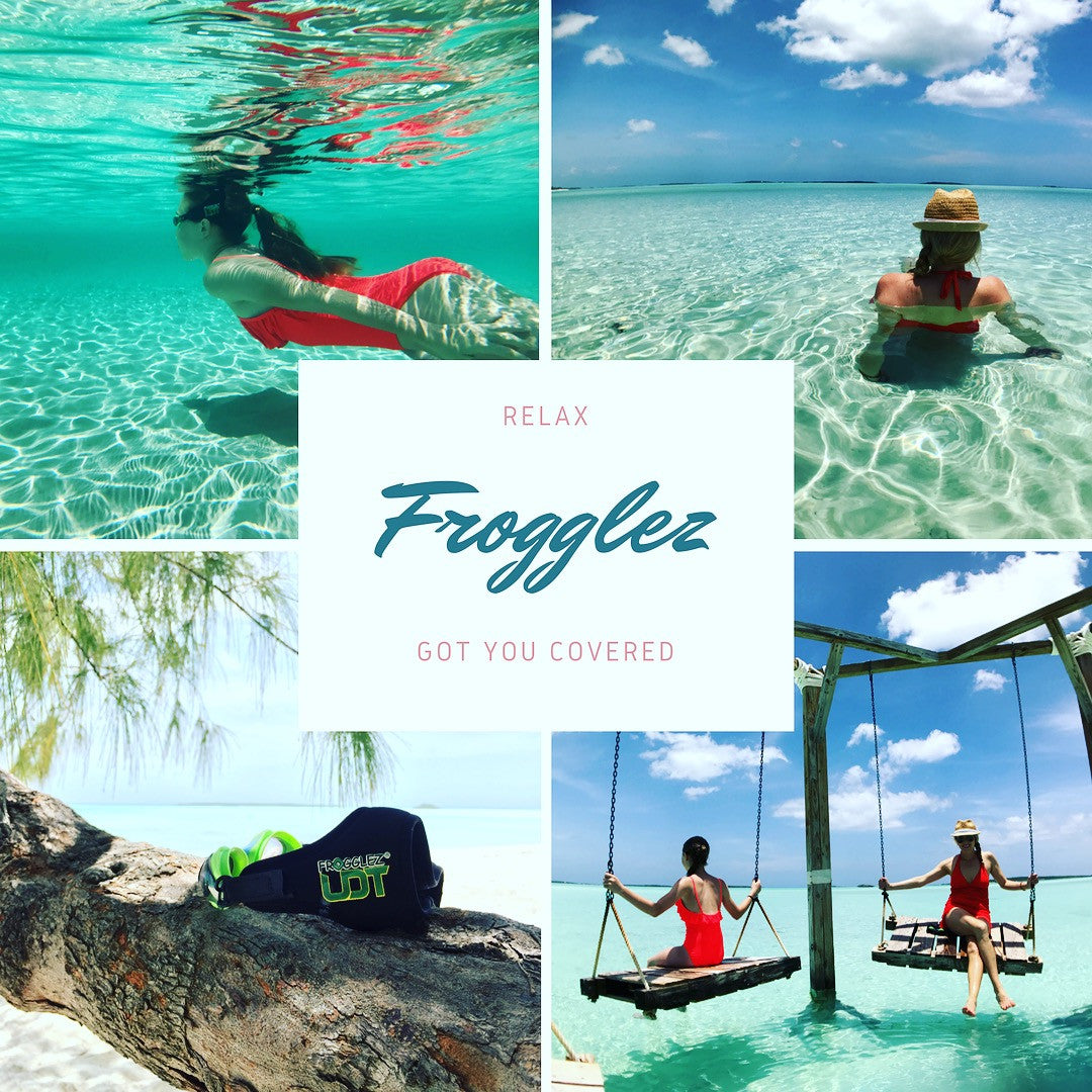 Frogglez Photoshoot in Exuma Bahamas