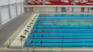 Olympic swimming pool with ten lanes