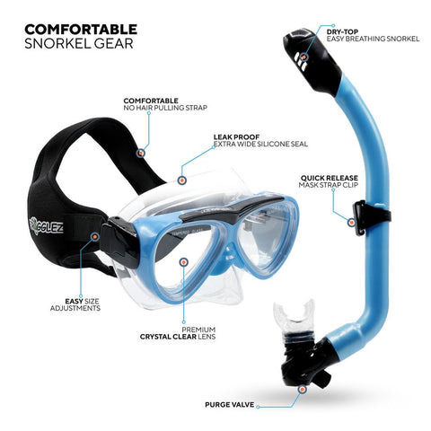 frogglez youth snorkel and dive mask
