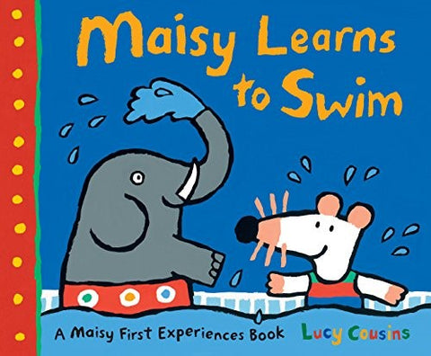Maisy takes swimming lessons to learn to swim at the pool