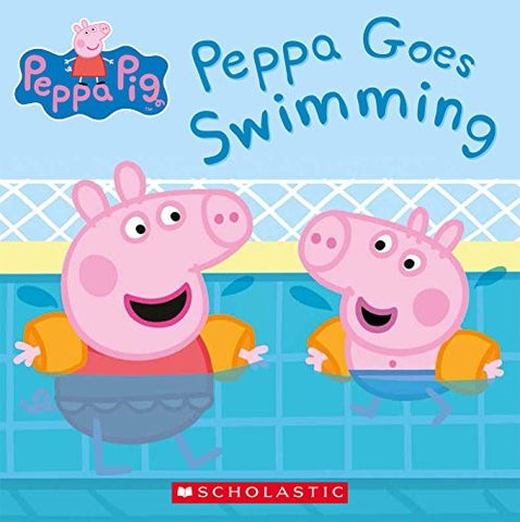 Peppa Pig takes swim lessons and goes swimming