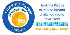 Logo of PoolSafely.gov the national educational effort to lower childhood drownings