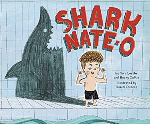 Nate loves sharks so much he wants to be one but needs to learn to swim.