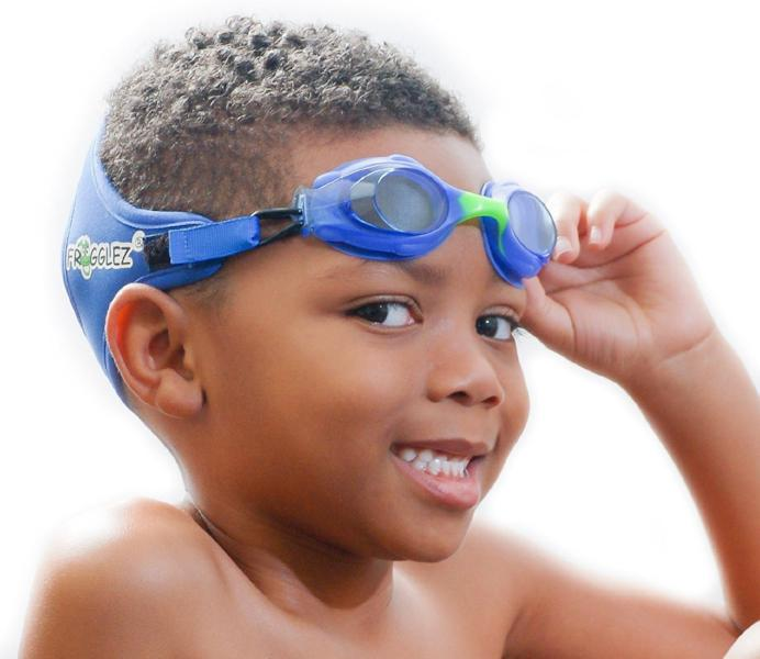 Kids Swim Goggles Frogglez Jr. Explorer in Blue, Pink, Green - Frogglez kids Swim Goggles, Swimming Goggles - swimming goggles