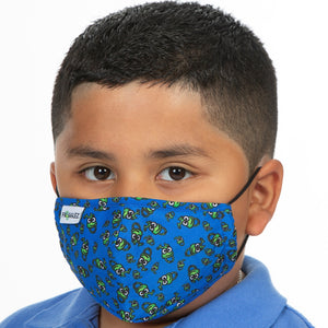 Kids Reusable Cloth Mask + 10 Filters