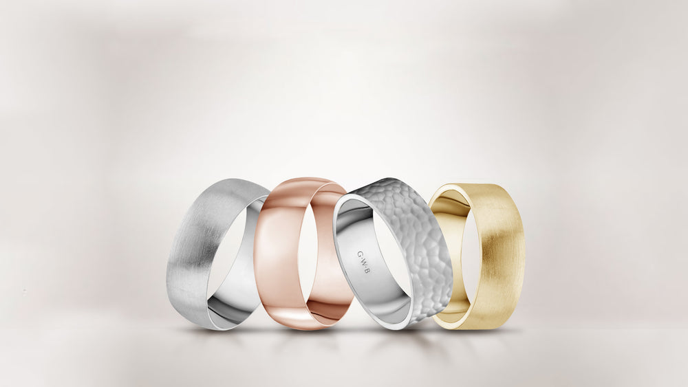 gold wedding bands canada