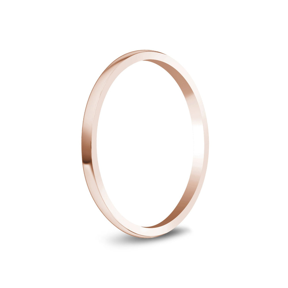 1.5mm 10K Gold High Polished Dome Thin Wedding Band