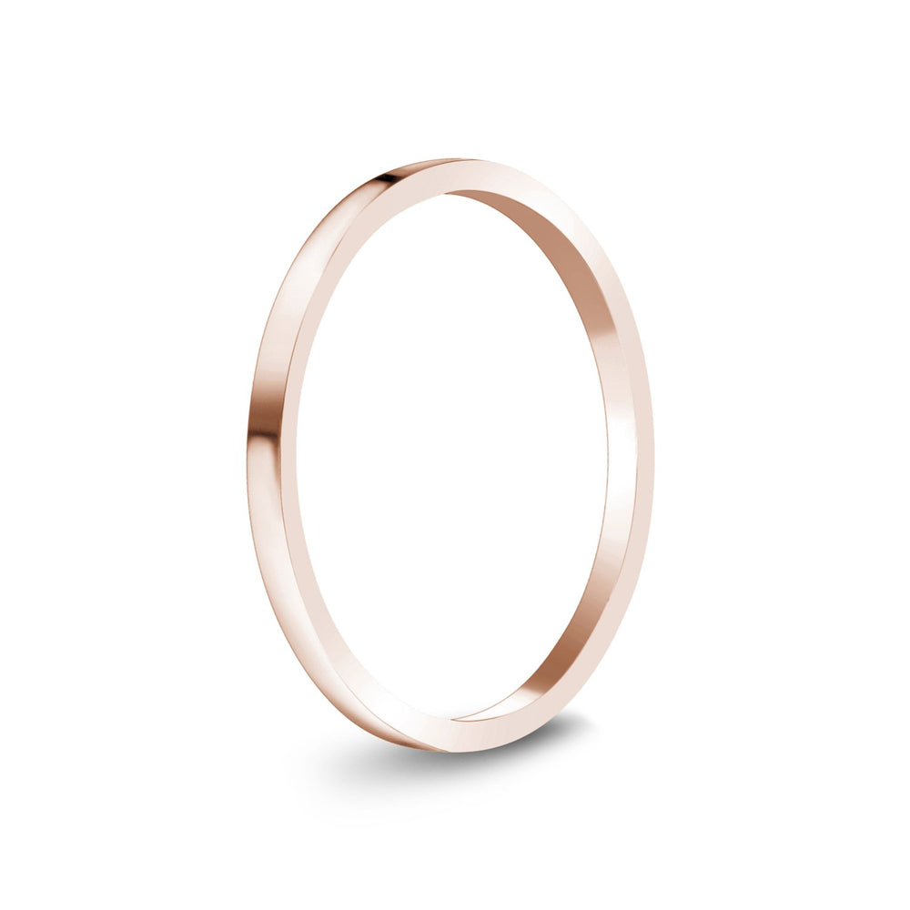 1.5mm 10K Gold High Polished Thin Flat Wedding Band