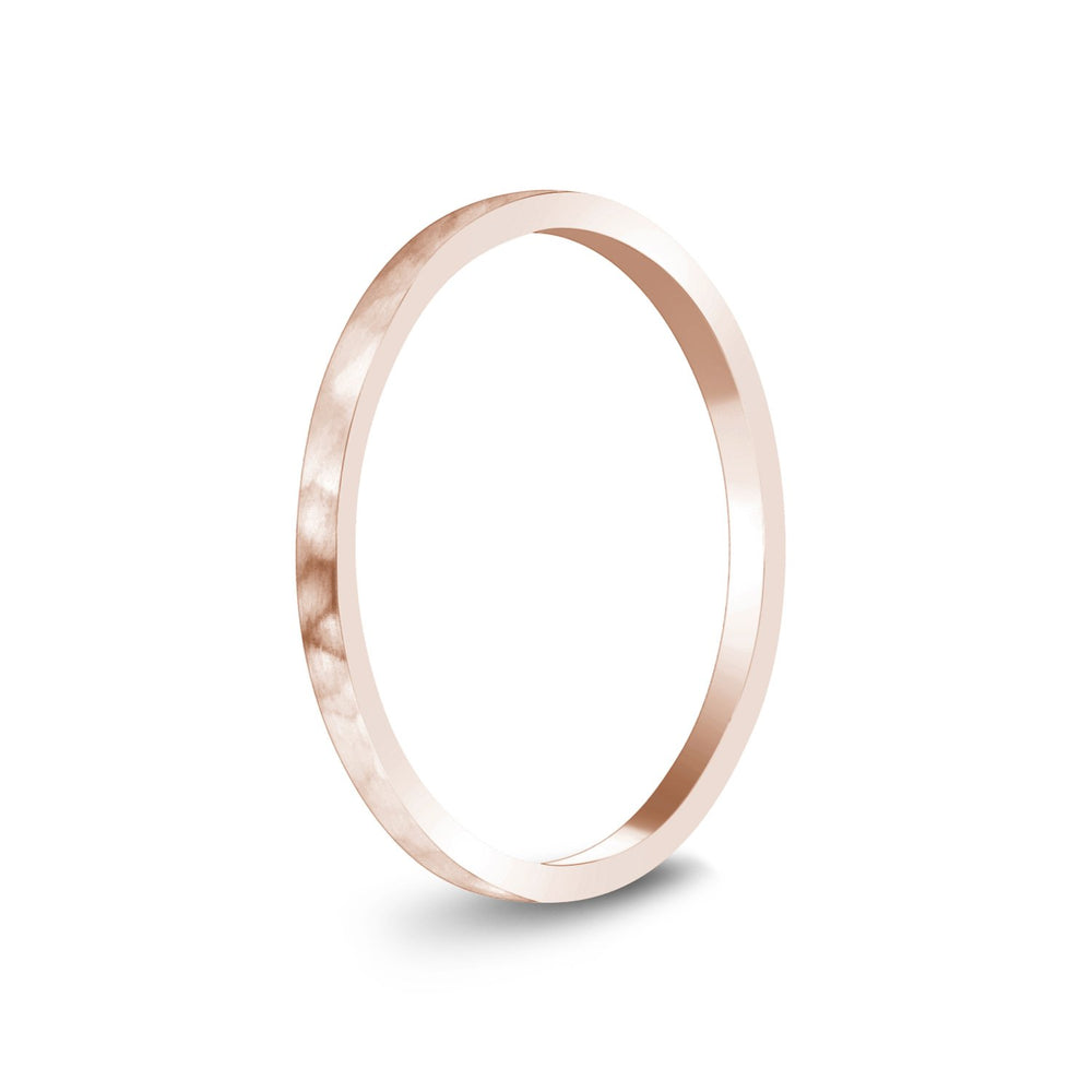 Load image into Gallery viewer, 1.5mm 14K Gold Brushed Thin Flat Hammered Wedding Band