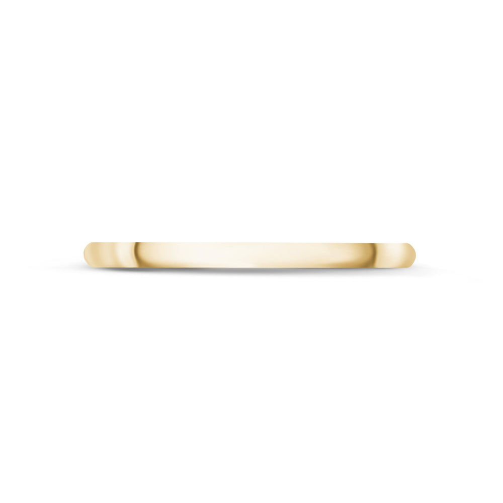Load image into Gallery viewer, 1.5mm 18K Gold High Polished Dome Thin Wedding Band