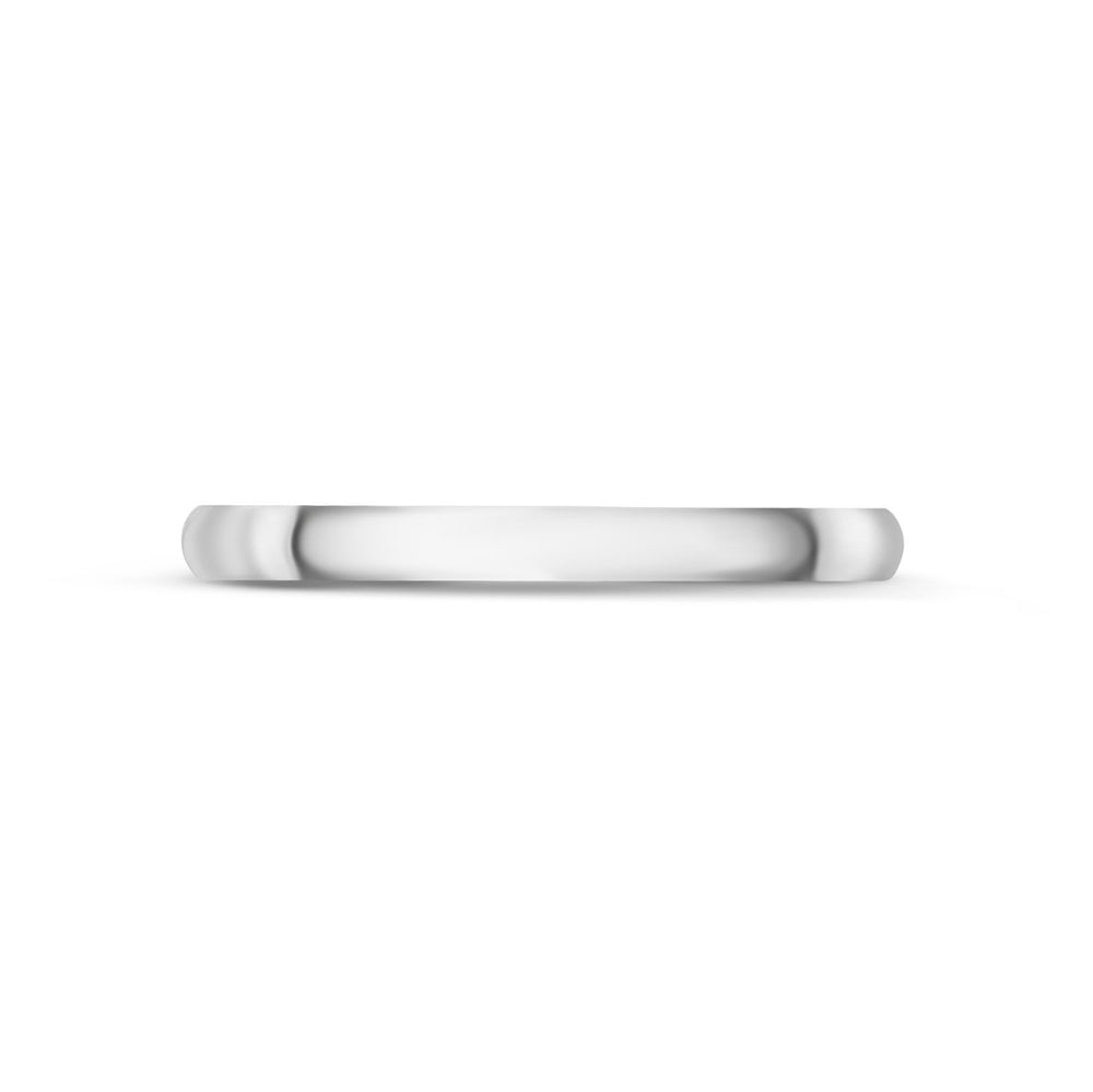 2mm 14K Gold High Polished Dome Wedding Band