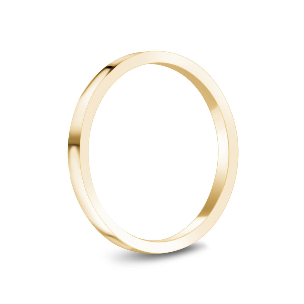Load image into Gallery viewer, 2mm 14K Gold High Polished Flat Wedding Band