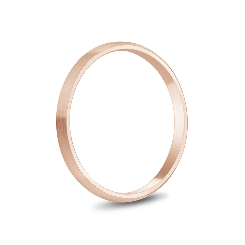 2mm 18K Gold Brushed Dome Wedding Band