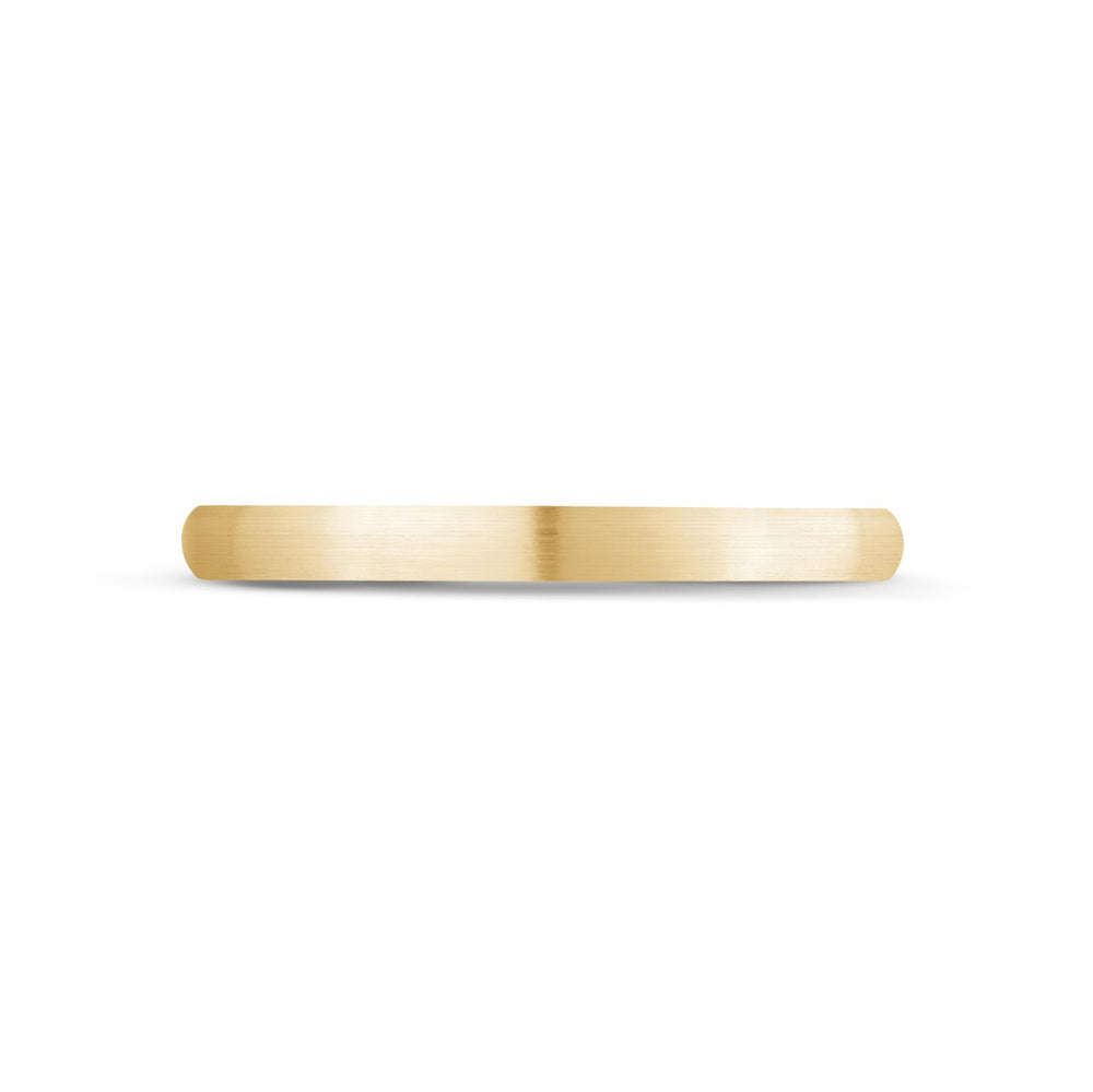 Load image into Gallery viewer, 2mm 18K Gold Brushed Dome Wedding Band