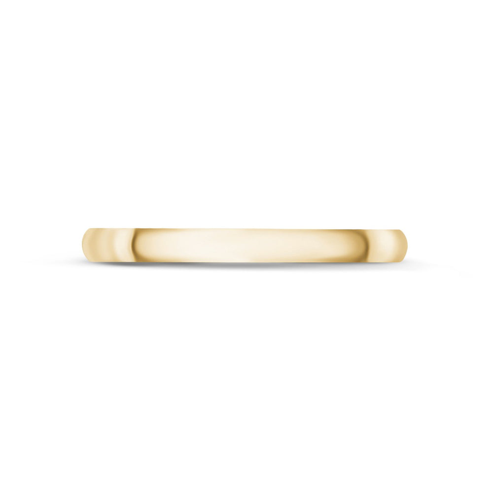 2mm 18K Gold High Polished Dome Wedding Band