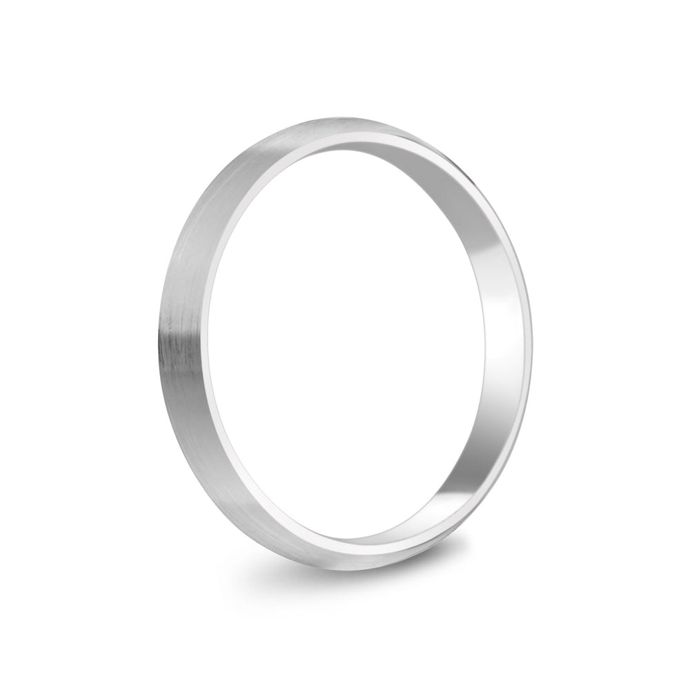 3mm 10K Gold Brushed Dome Wedding Band