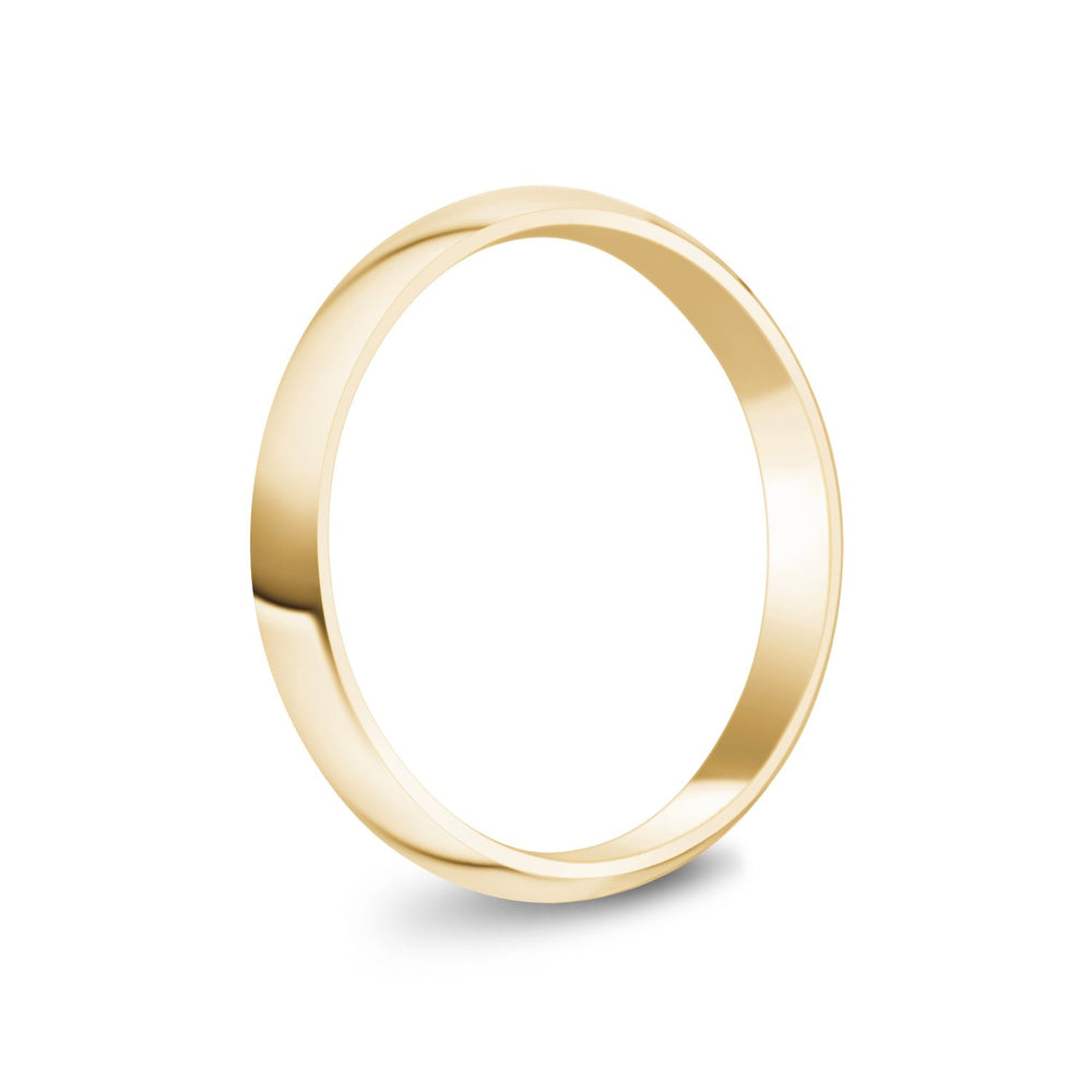 3mm 10K Gold High Polished Dome Wedding Band