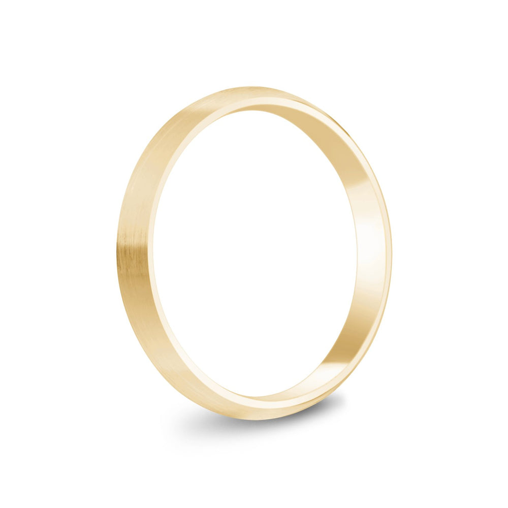 3mm 14K Gold Brushed Dome Wedding Band