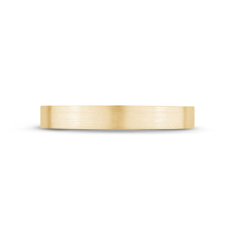 Load image into Gallery viewer, 3mm 18K Gold Brushed Flat Wedding Band