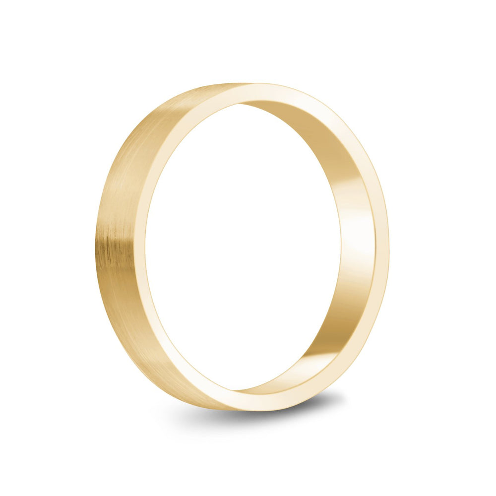 Load image into Gallery viewer, 4mm 10K Gold Brushed Flat Wedding Band