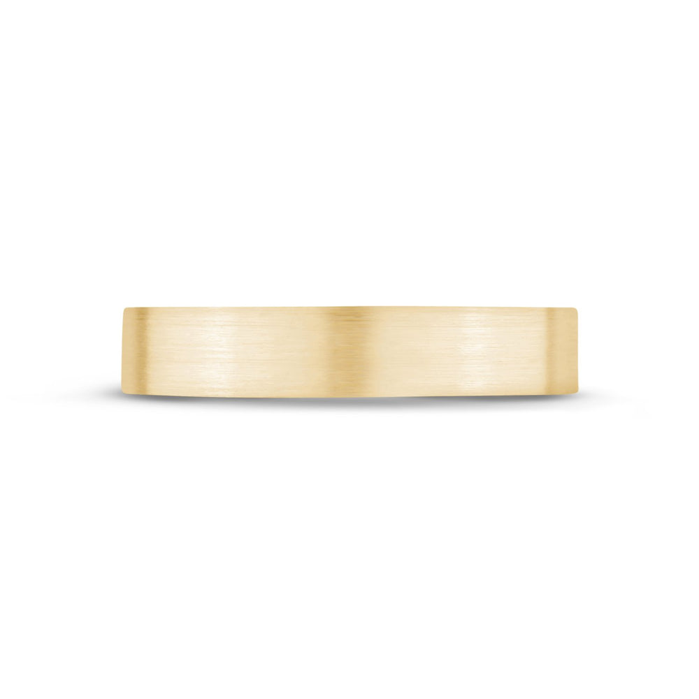 4mm 14K Gold Brushed Flat Wedding Band