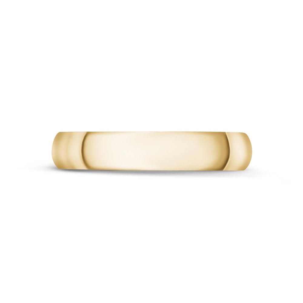4mm 14K Gold High Polished Dome Wedding Band