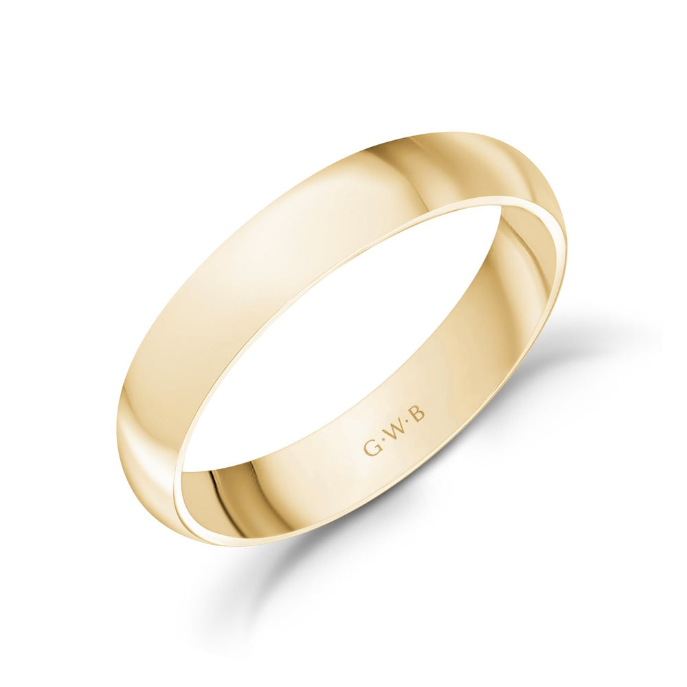 Load image into Gallery viewer, 4mm 18K Gold High Polished Dome Wedding Band