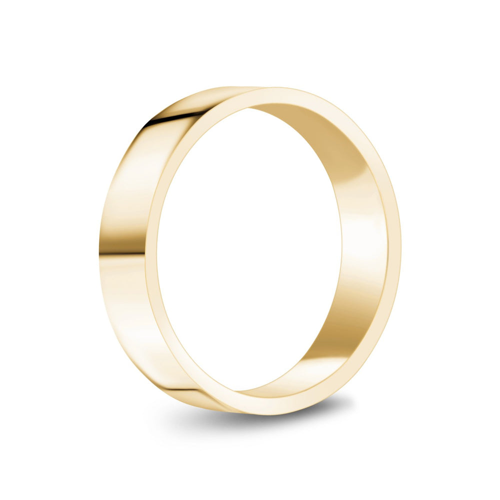 5mm 10K Gold High Polished Flat Wedding Band