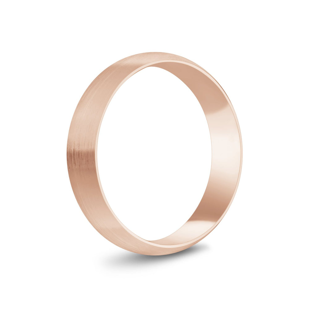 5mm 14K Gold Brushed Dome Wedding Band