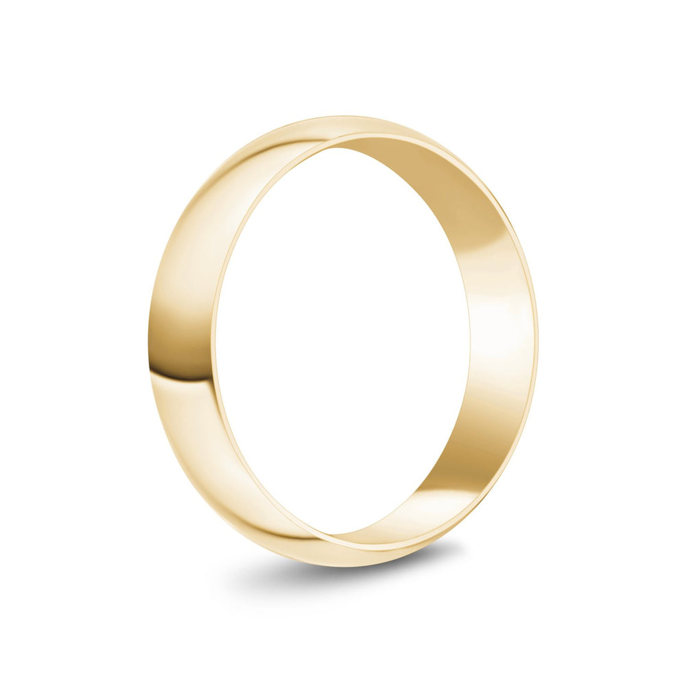 5mm 14K Gold High Polished Dome Wedding Band