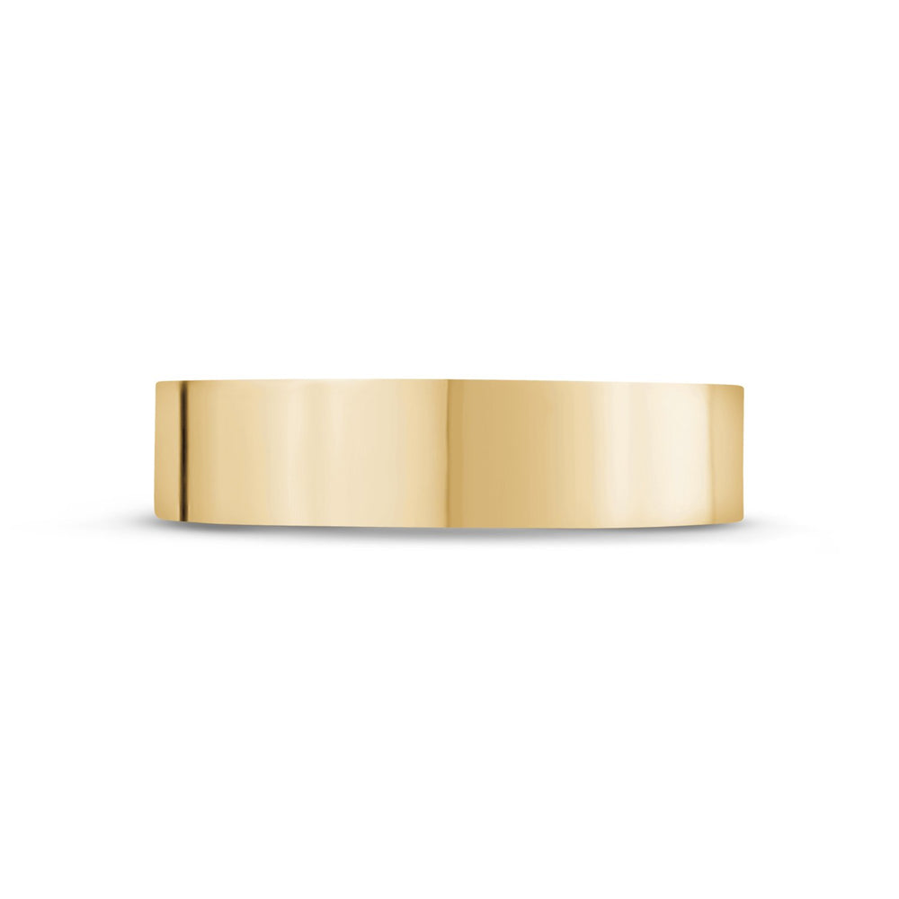 5mm 14K Gold High Polished Flat Wedding Band