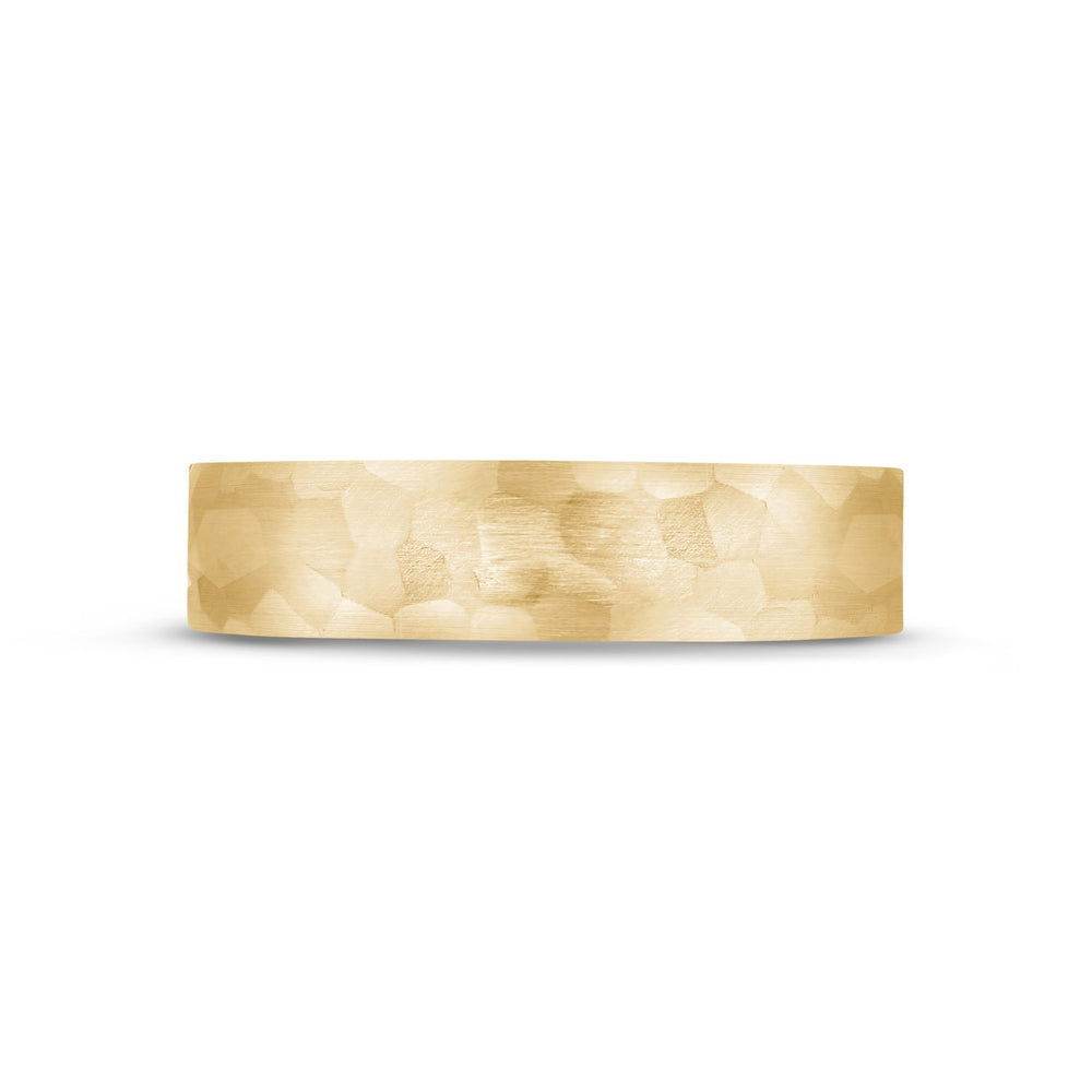 Load image into Gallery viewer, 5mm 18K Gold Brushed Hammered Wedding Band