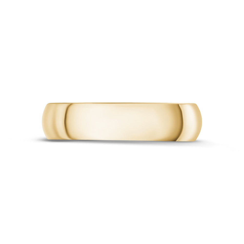 5mm 18K Gold High Polished Dome Wedding Band