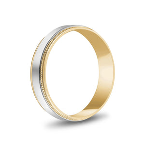 Load image into Gallery viewer, 5mm 18K Gold High Polished Flat Milgrain Wedding Band