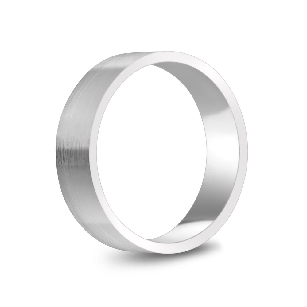 Load image into Gallery viewer, 6mm 10K Gold Brushed Flat Wedding Band