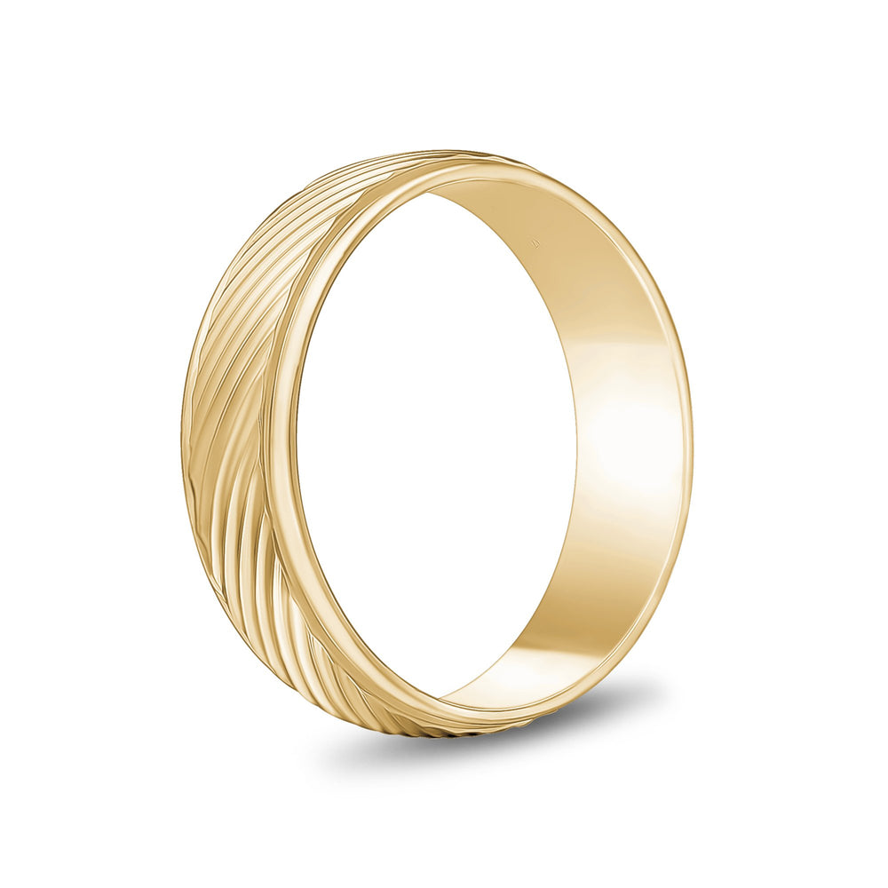 Load image into Gallery viewer, 6mm 10K Gold High Polished Diagonal Lines Wedding Band
