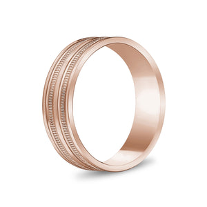 Load image into Gallery viewer, 6mm 10K Gold High Polished Double Milgrain Wedding Band