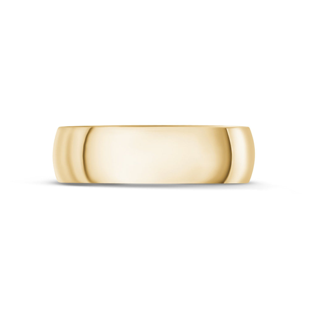 6mm 14K Gold High Polished Dome Wedding Band