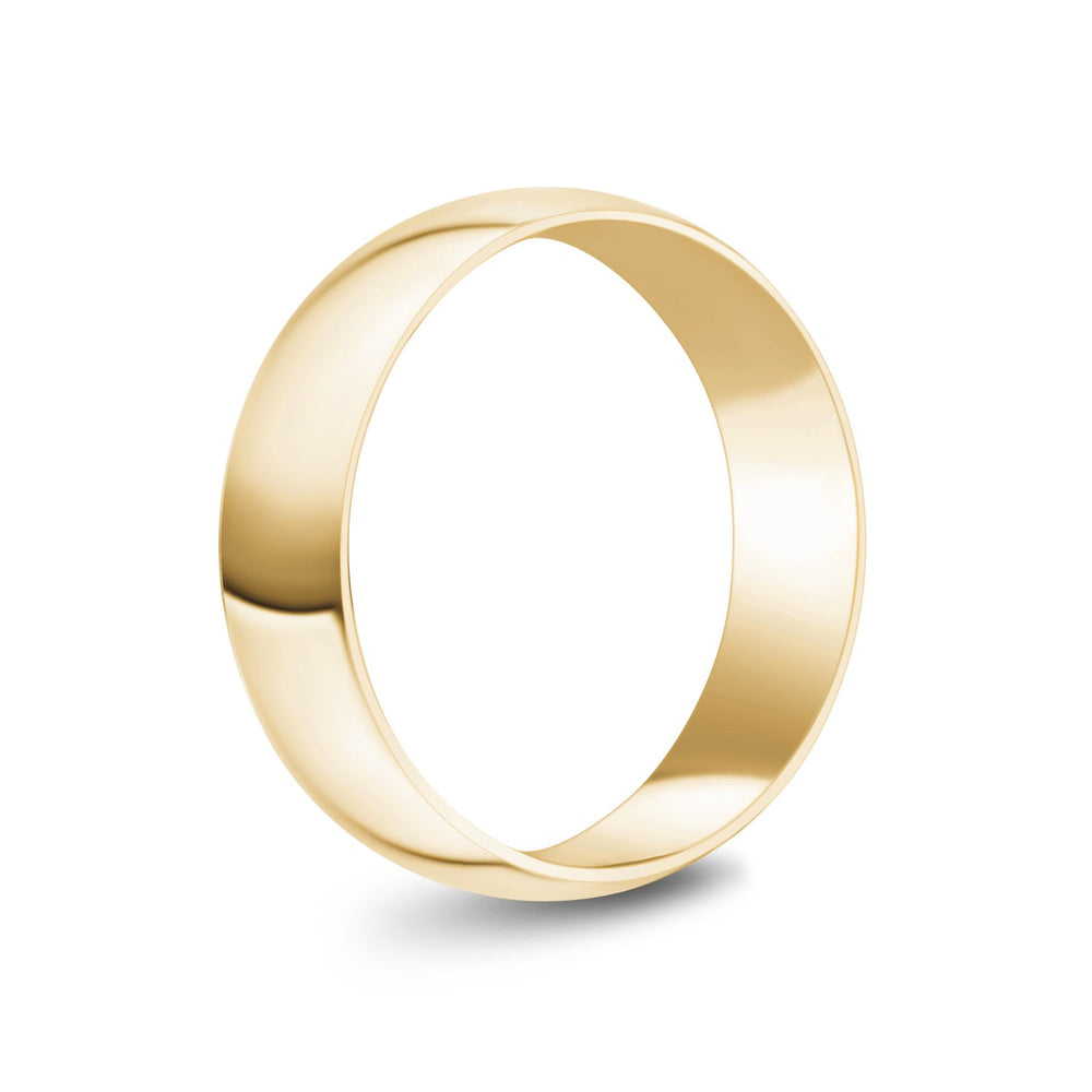 6mm 18K Gold High Polished Dome Wedding Band