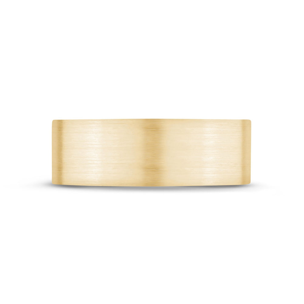 Load image into Gallery viewer, 7mm 10K Gold Brushed Flat Wedding Band